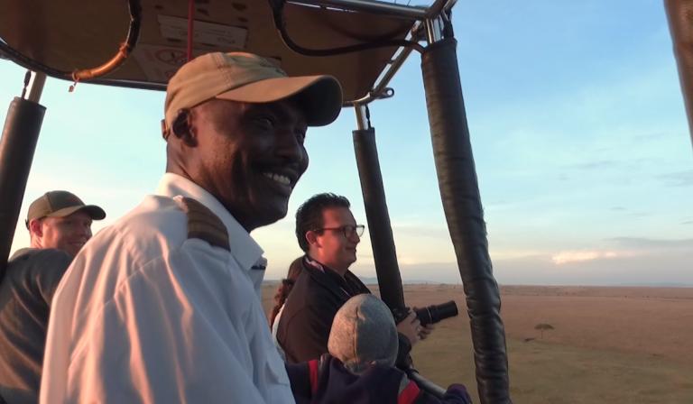 Meet David Eris a hot air balloon pilot flying over Masi Mara