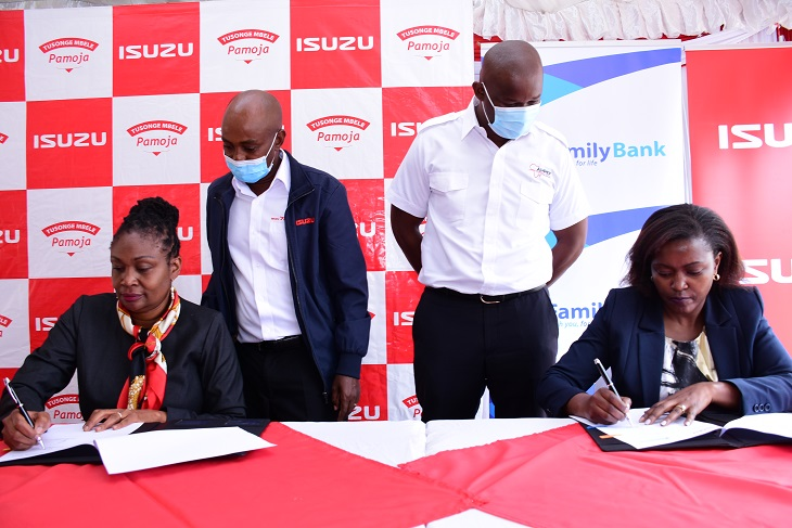Isuzu and Family Bank partnership to finance institutions 100%
