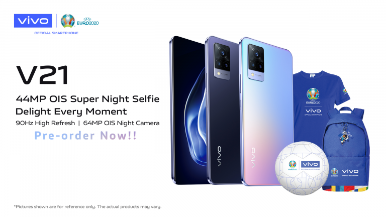 vivo V21 Open for Local Pre-order: Offers UEFA Euro 2020 Limited Freebies